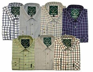 Country-Classics-Quality-Check-Shirts-Mens-Long-Sleeve-S-5XL-Work-Casual-Outdoor