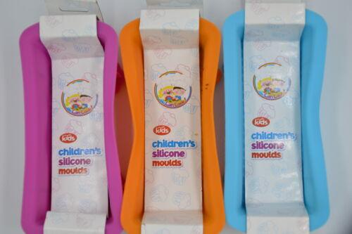 Nouveau Enfants Silicone Unique Mini Pain Moule ou ensemble de tous les 3 Vert Bleu Orange