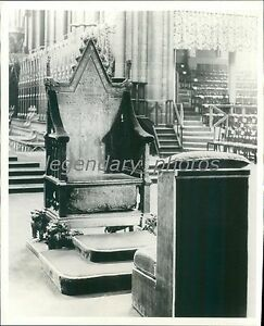 Image Is Loading 1937 Oaken Coronation Chair For King George VI