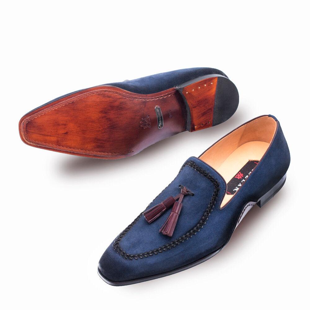 NEW Mezlan Fashion Dress Slip On shoes Genuine Suede Leather Tassle Plazza bluee