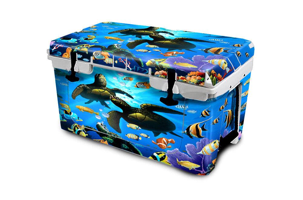 USATuff Cooler Wrap  Decal 'Fits New Mold' RTIC 45QT FULL Honu Paradis  cheap sale