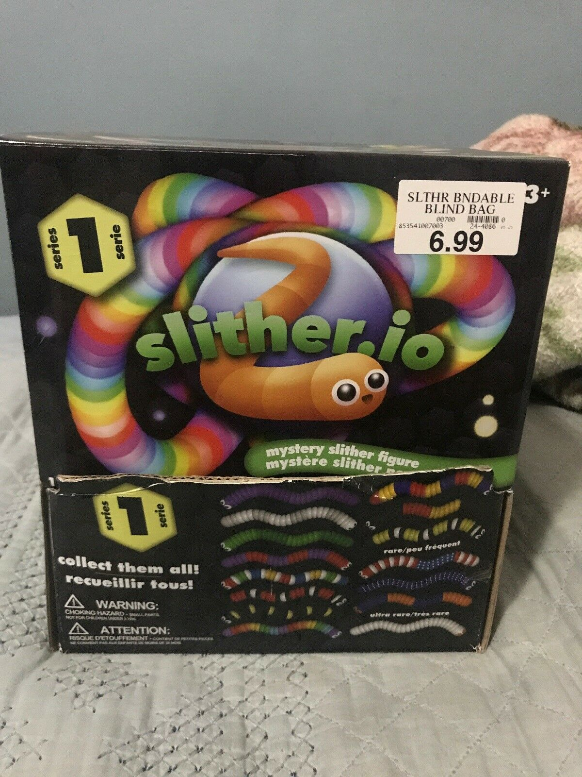 Slither. io mystère Slither Figure Set of 38 RARE + ultra rare inclus