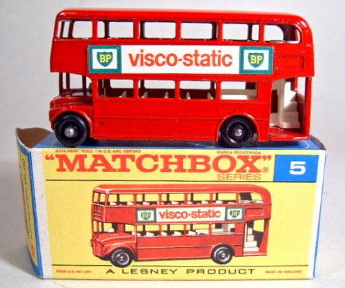MATCHBOX RW 05d LONDON BUS rojo  VISCO-STATIC  in più tardi  F  BOX