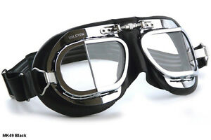 26410c2846 Image is loading NEW-HALCYON-MK49-GOGGLES-Motorcycle-Car-Vintage-Racer-