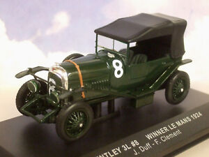 Ixo 1/43 Bentley 3l 3 Litre #8 Gagnant 1st Le Mans 1924 J. Duff / F.clement