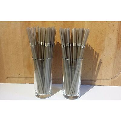 100 gold Flexible Drinking Straws Bendy Flexi Cocktail Party Weddings Plastic