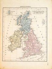 Carta geografica antica GRAN BRETAGNA United Kingdom Froment 1830 Old Map