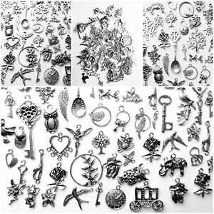 50-Tibetan-Silver-Mixte-Perles-Charms-selection-Aleatoire-Bijoux-Making-Crafts