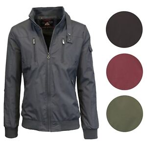 Is Polyester Warm.Details About Mens Lightweight Jacket Moto Bomber Full Zip Water Repellent Rain Polyester Warm