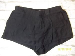 Silence-Noise-Womens-XS-Black-Urban-Outfitter-Pleated-Skorts-Casual-Shorts-2217C