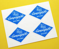 Campagnolo vintage style 50th Anniversary Blue frame Bike Stickers decals