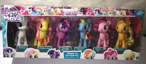 MAGIC OF EVERPONY  DELUXE 6 PACK SET RARE NEW MY LITTLE PONY THE MOVIE