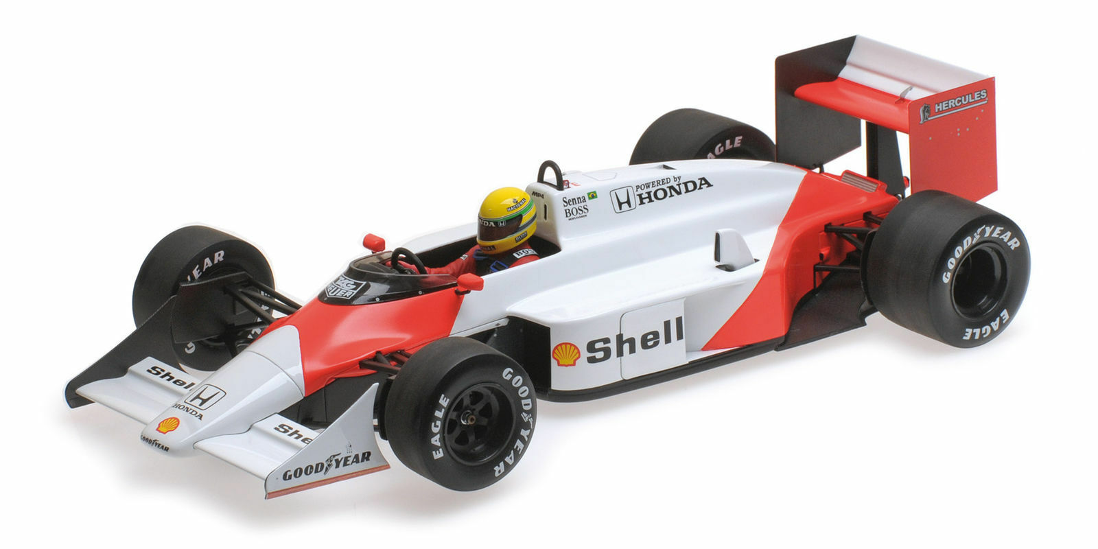 Minichamps 547871899 1 18 1987 McLaren MP4 3 Ayrton Senna Test Car F1 Model