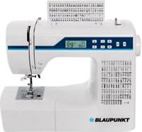 Freiarmnähmaschine Blaupunkt Comfort 930 Mit Display, Led-licht Weiß, Hellblau