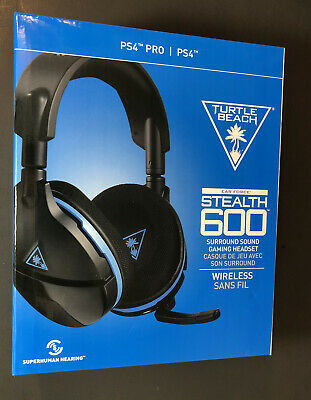 Turtle Beach Ear Force Stealth 600 Surround Sound Wireless Headset For Ps4 New Ebay