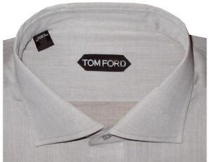 640-NEW-TOM-FORD-SOFT-BROWN-TAUPE-HAND-MADE-DRESS-SHIRT-EU-43-17