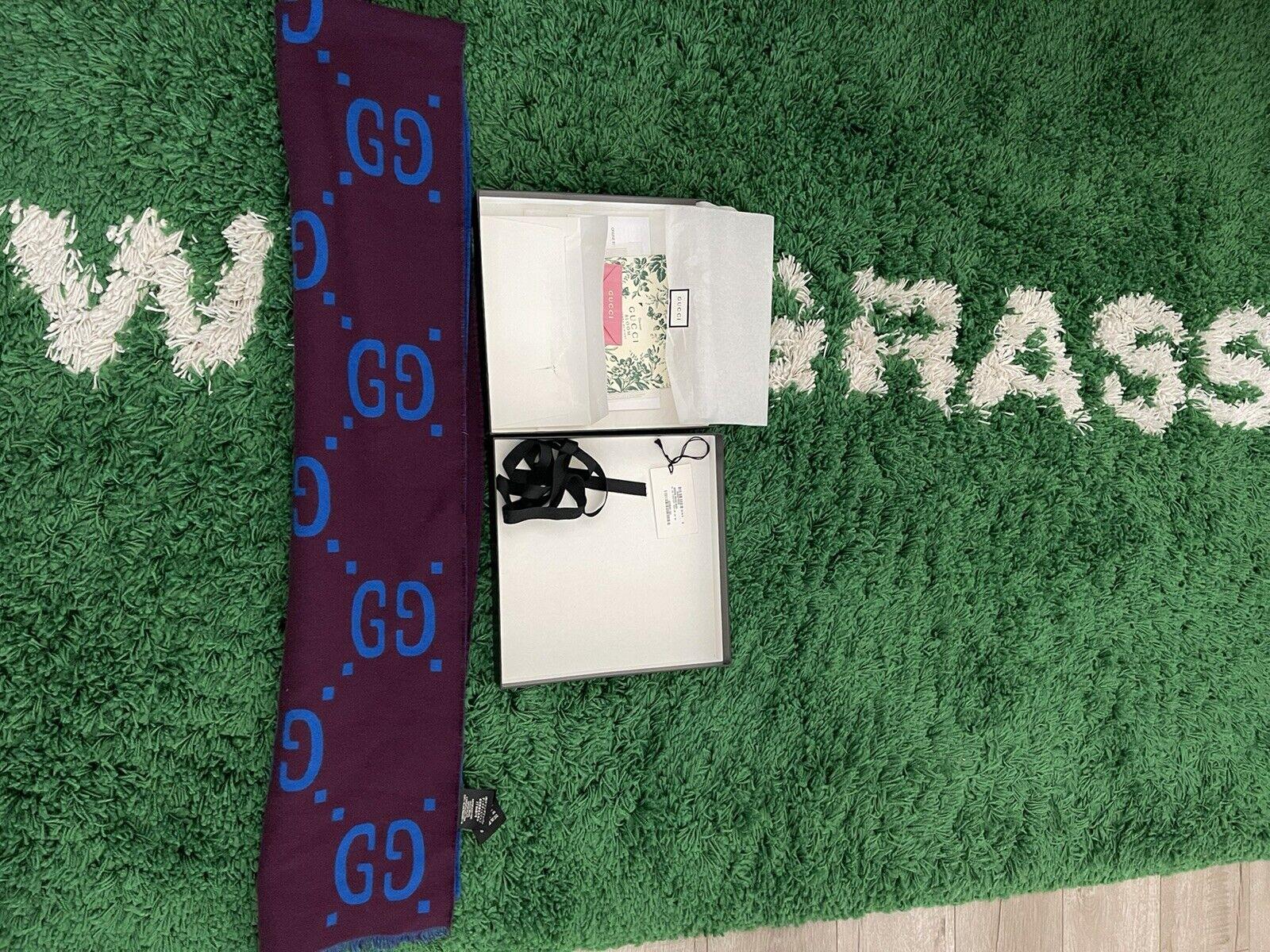 Gucci GG jacquard wool silk scarf - image 6