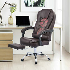 Height Adjustable Executive Chair Home Office Chair W Footrest Recline Amp Massage