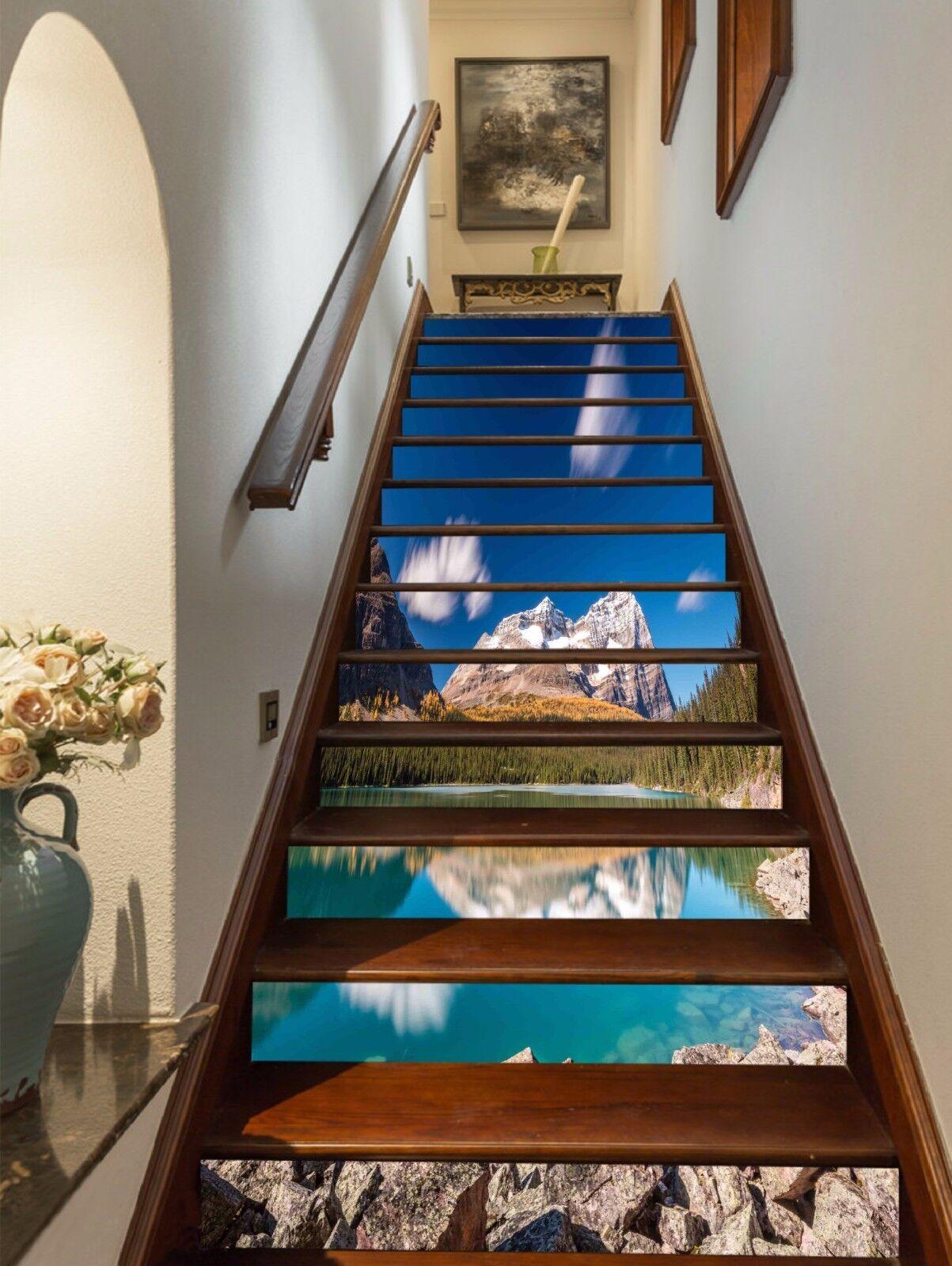 3D Pretty Lake 106 Stair Risers Decoration Photo Mural Vinyl Decal Wallpaper AU