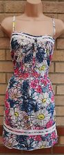 BY HENRY HOLLAND STRAPPY WHITE MULTI COLOUR FLORAL BAGGY BLOUSE TUNIC TOP 16 XL