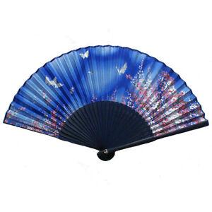 Eventail-chinois-en-soie-motif-fleurs
