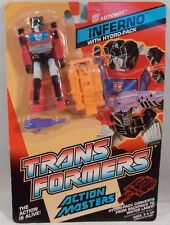 Transformers Generation 1 Action Masters Inferno With Hydro-Pack Hasbro MOC G1