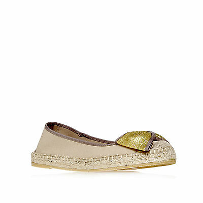 LUCY KG KURT GEIGER FABRIC BEIGE WOMENS LADIES SHOE