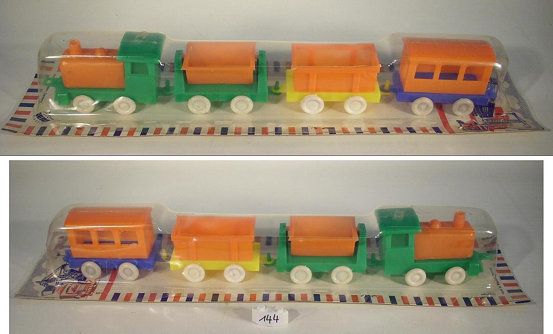 Jean Höfler plastique années 60er set set set locomotive a vapeur avec 3 wagons set 4  144 8f1f22