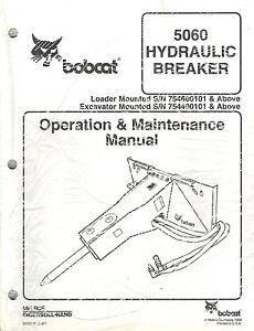 bobcat 5060 hydraulic breaker operation maintenance manual new rh ebay com Bobcat Breaker Bits Bobcat Breaker Bits