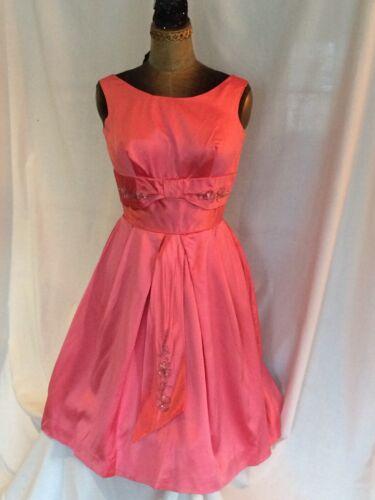 Vintage 50's-60's dress in pink satin