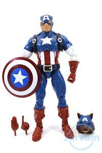 "Marvel Legends 6/"" Inch Studios 10th Captain America Red Skull Loose Complete"