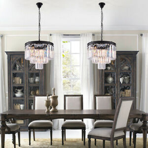 Details About Modern Luxury Crystal Chandelier Pendant Light Fixture Foyer Hallway Living Room
