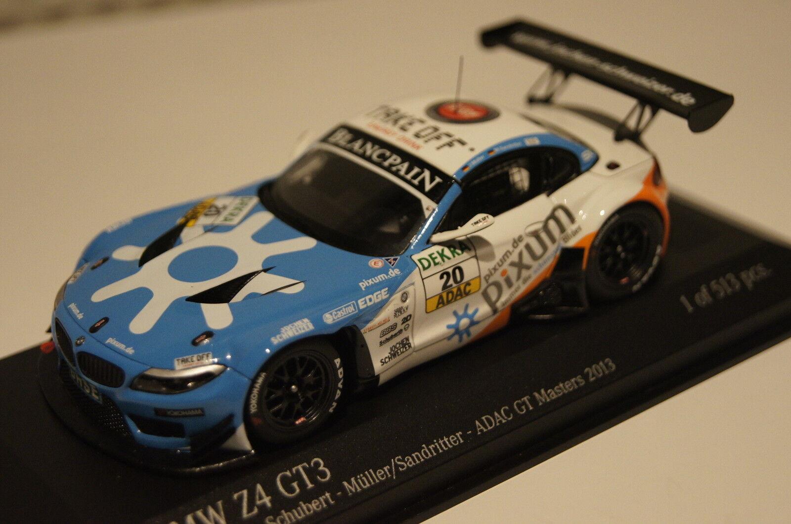 BMW z4 gt3 Team Schubert ADAC GT ingrasso. 2013 1 43 Minichamps Nuovo & Ovp 437132420