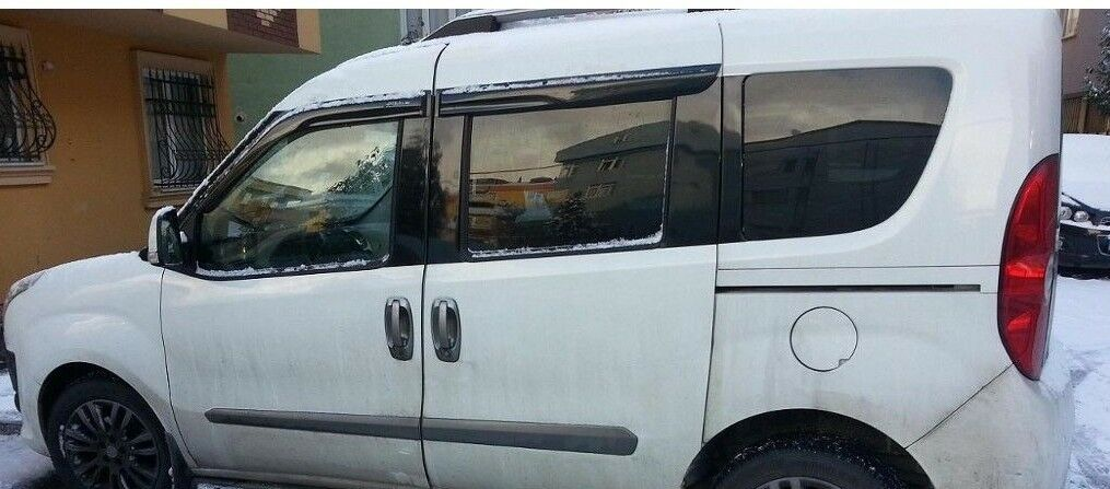 DODGE RAM PROMASTER CITY FRONT SIDE WINDOW AIR RAIN WIND DEFLECTOR GUARD 4 PCS 2015-2018