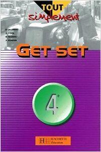 Collectif-Tout-simplement-Get-Set-anglais-4e-Livre-de-l-039-eleve-1998-Broch