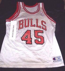 f88c5f444f6 Michael Jordan #45 CHAMPION Chicago Bulls NBA Jersey Snapback sz 44 ...
