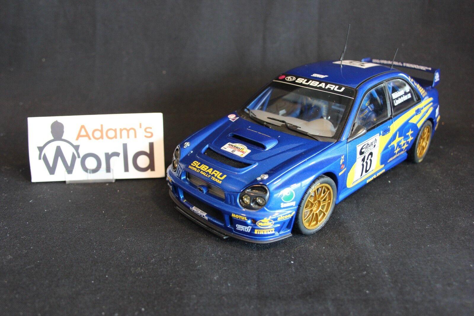 AutoArt Subaru Impreza S8 WRC '02 1 18  10 Mäkinen   Lindström Germ (JvdM) fig.