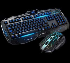 Tastiera + mouse da gioco,led retroilluminata RGB LED.Gaming keyboard PC gamer