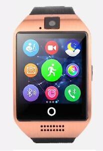 Q18-Premium-SmartWatch-GOLD-Uhr-Bluetooth-Samsung-Handy-Android-SIM-Kamera-SONY