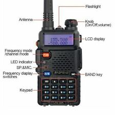 Radio Transceiver Scanner Handheld Portable Police Fire Two Way Dual Band EMS FM