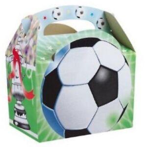 Jungen-Fussball-Essen-Boxen-Picknick-Mehl-Tasche-Sport-Geburtstagsparty