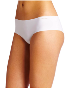 CALVIN-KLEIN-Womens-Invisibles-Hipster-Panties-Underwear-3429-Sz-M-White