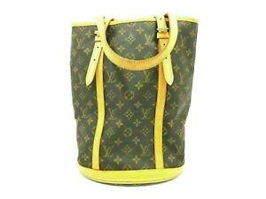 Authentic-LOUIS-VUITTON-Monogram-Bucket-GM-M42236-Shoulder-Bag-PVC-Leather-90237