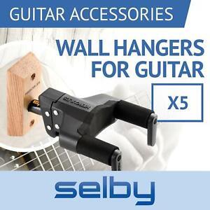 Hercules GSP38WBPLUS Guitar Wall Mount Hangers - 5 Count