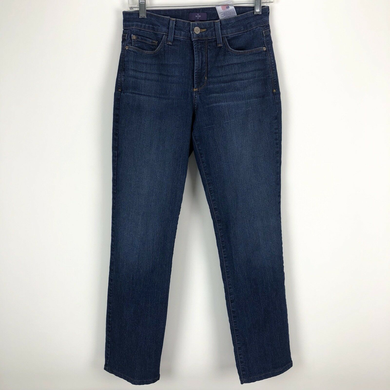 NYDJ Not Your Daughters Jeans Womens Marilyn Straight Denim bluee Jeans - Size 6