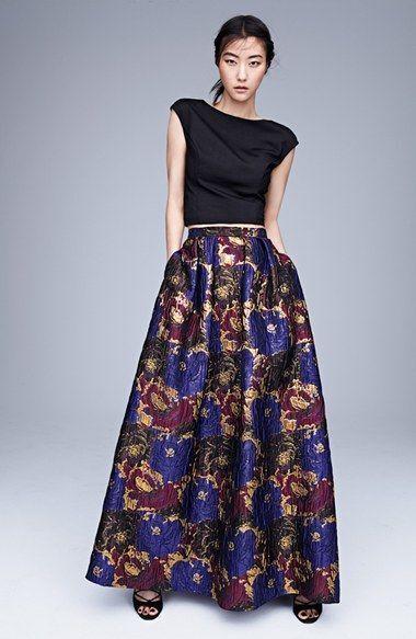 Aidan by Aidan Mattox Jacquard Skirt (size 4)