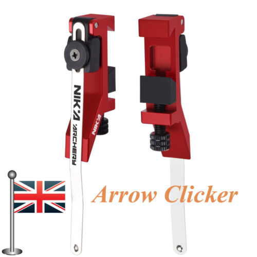 Archery Arrow Clicker Mounted on Bow Sight Adjustable for Recurve Bow Target Red