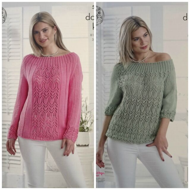 King Cole 5091 DK Knitting Pattern Ladies Sweater & Top in Bamboo ...