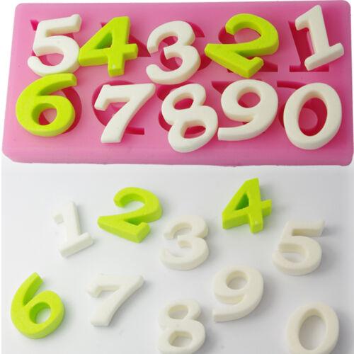 2x Super Mini  Ausstecher Ausstechform-Backen Nummer 0-9 Zahlen Silikon Sets //