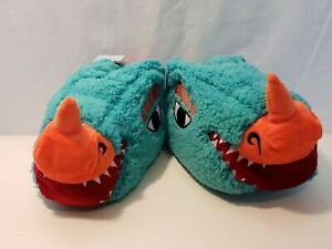 aa945e69fb6 CAT   JACK Boys  Lizard Head Bootie Slippers Turquoise Blue Size M 2 ...